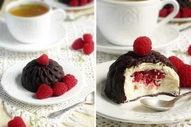 Глазированные сырки с ягодой по-домашнему