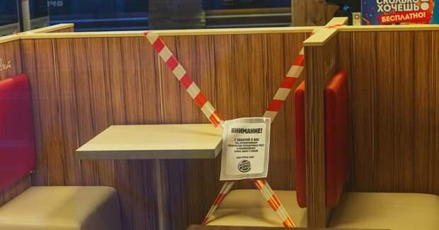 Ресторанный сектор потерял почти треть выручки в октябре