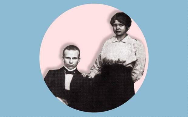 Н.С. Хрущёв со своей первой женой Е.И. Писаревой. Юзовка, ок. 1916 года. Коллаж © L!FE Фото: © Wikipedia.org