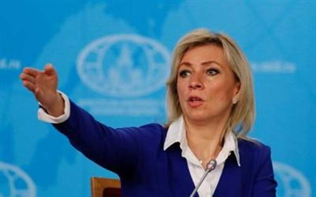Russia's Foreign Ministry spokeswoman Maria Zakharova gestures during the annual news conference of the acting Foreign Minister Sergei Lavrov (not pictured) in Moscow, Russia January 17, 2020. REUTERS/Shamil Zhumatov