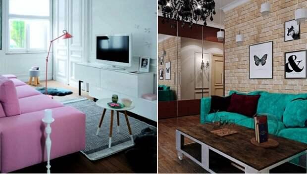 14 идей, как грамотно использовать маленькую площадь при создании стильной гостиной в «хрущевки»