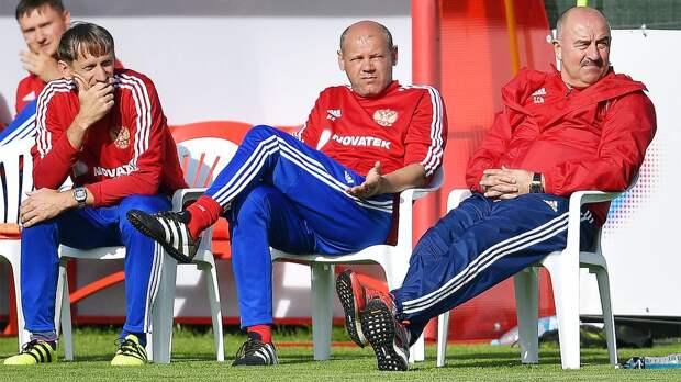 Черчесов прокомментировал первую тренировку сборной России перед Евро-2020