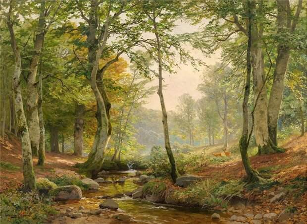 В лесу... художник Heinrich Bohmer