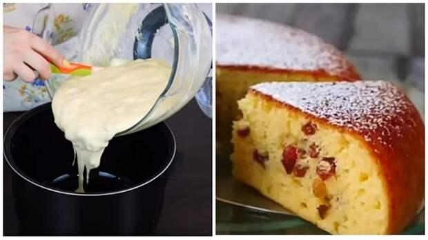 Нежный и вкусный пирог на сметане быстрого приготовления