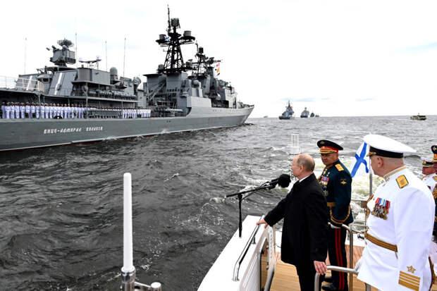Путин поздравил моряков с Днём ВМФ России