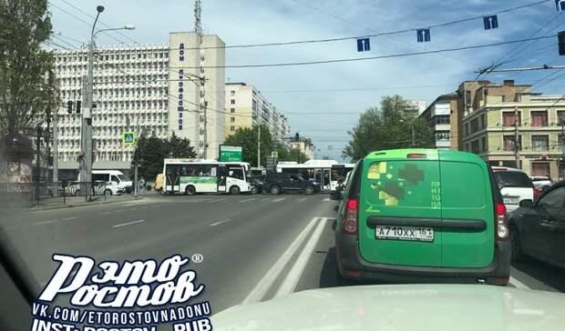 Пробки парализовали центр Ростова