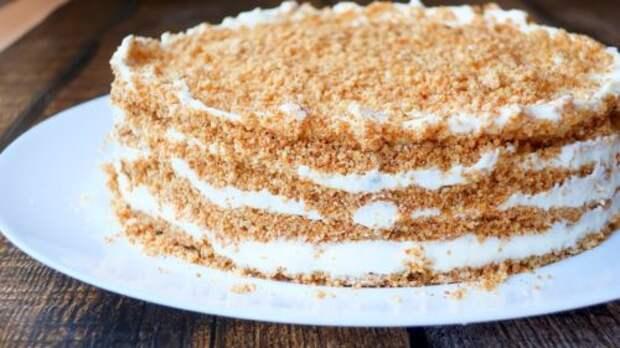 Бабушкин торт «Пломбир» без духовки- торта вкуснее я не ела