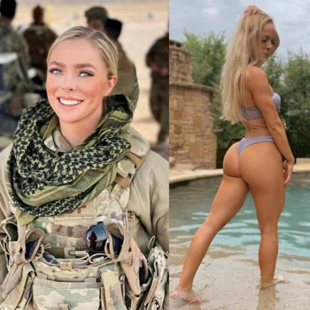 Девушки в униформе и без неё