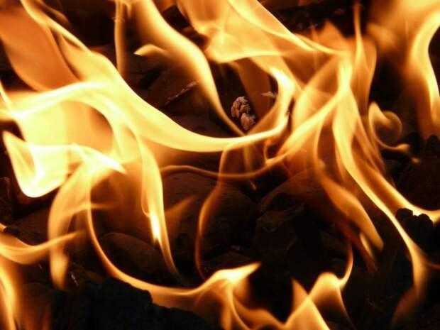 Около дома на Вятской загорелся мусор