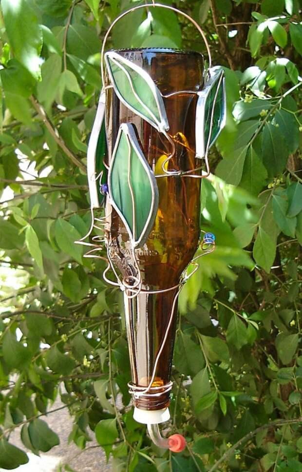 WineBottle08 22 способа превратить пустую бутылку в практичное произведение искусства