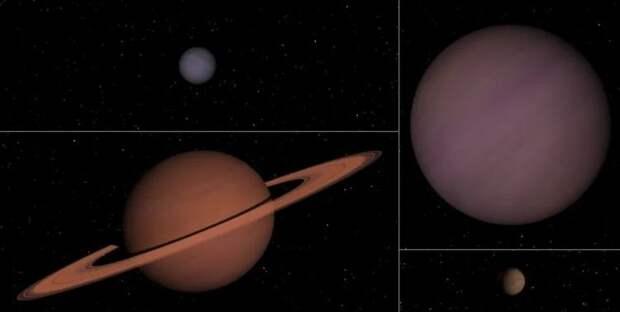 черные планеты, Дальний космос, Планета Юпитер, Планеты