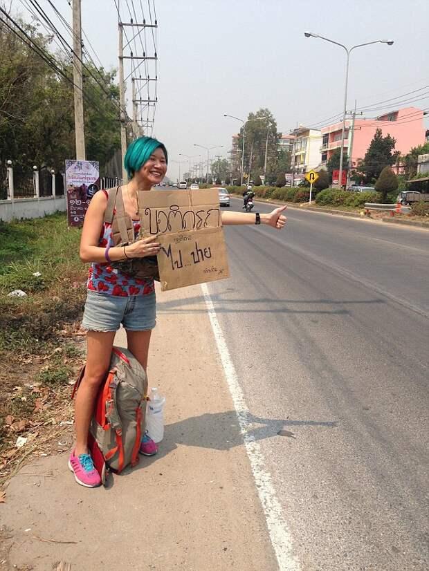 Девушка доехала автостопом из Швеции в Малайзию всего с 200 долларами в кармане