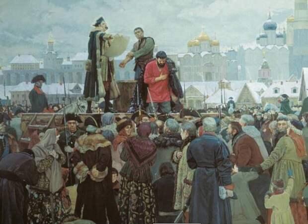 Публичная казнь в старину часто заключалась в клеймении преступника