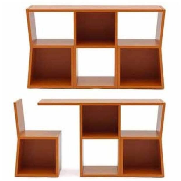 Поставьте как полку под окно, а в случае надобности будет и стол и стулья Фабрика идей, интересное, мебель, полезное, трансформеры, эргономичность